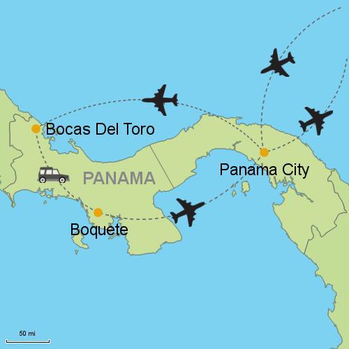Panama City - Bocas del Toro - Boquete- Customizable Itinerary