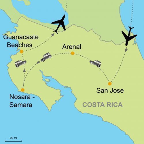 Arenal Volcano - Nosara Beach - Guanacaste Beach plus Car Rental ...