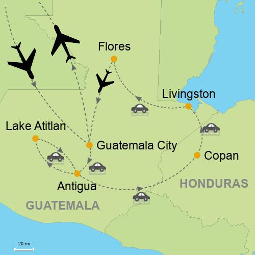 Guatemala with Copan Customizable Itinerary from Tripmasters.com\\Latin