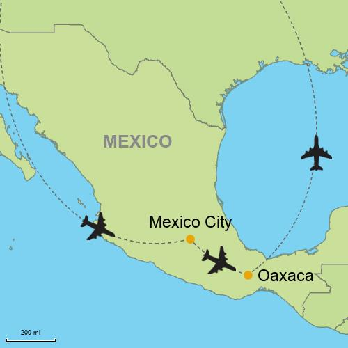 Guajaca Mexico Map.Mexico City Oaxaca Customizable Itinerary