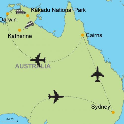 Map Of Australia Kakadu National Park.Sydney Cairns Darwin Kakadu National Park Katherine