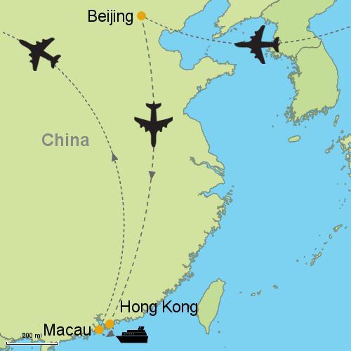 Beijing Hong Kong Macau Customizable Itinerary from Asia