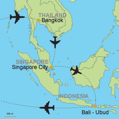 Bangkok Singapore Bali Ubud And Beaches Relitin Customizable