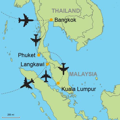 Bangkok Phuket Kuala Lumpur Langkawi Customizable Itinerary