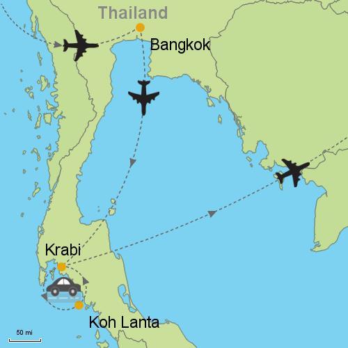 Bangkok Koh Lanta Krabi Customizable Itinerary from Asia