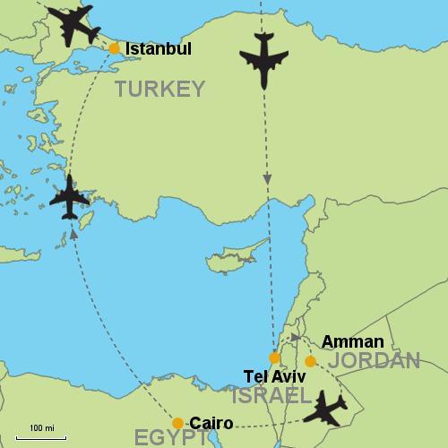 Tel Aviv - Amman - Cairo - Istanbul Customizable Itinerary from Asia ...