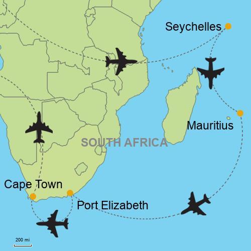 Seychelles Mauritius Port Elizabeth Cape Town Customizable