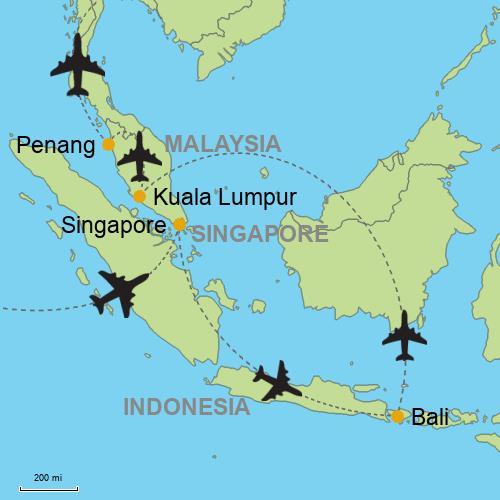 Singapore - Bali - Kuala Lumpur - Penang Customizable Itinerary from ...