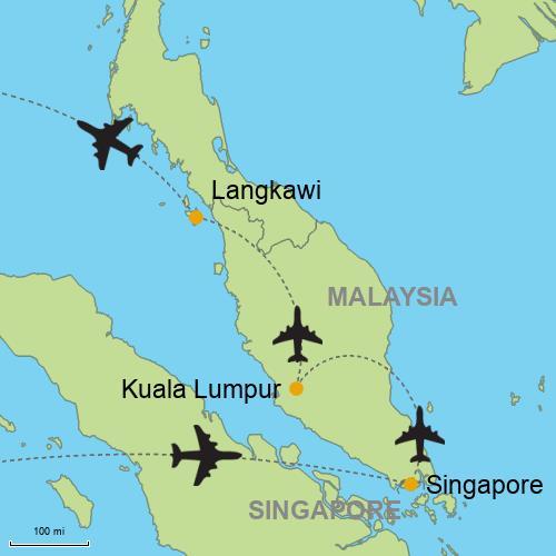 Singapore - Kuala Lumpur - Langkawi