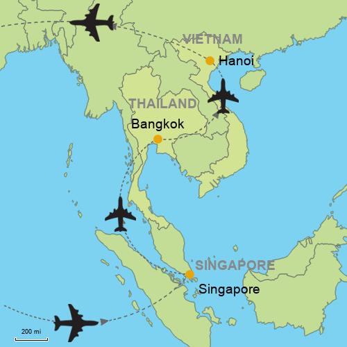 Singapore - Bangkok - Hanoi Customizable Itinerary from Asia ...