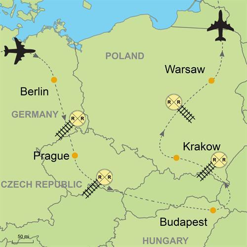 Map Of Germany Krakow.Vacation Package Berlin And Wonderful Eastern Europe Custom