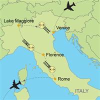 Venice - Lake Maggiore - Florence - Rome