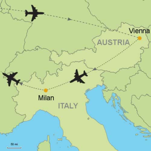 Vienna and milan by air customizable itinerary from tripmasters vienna and milan by air gumiabroncs Gallery