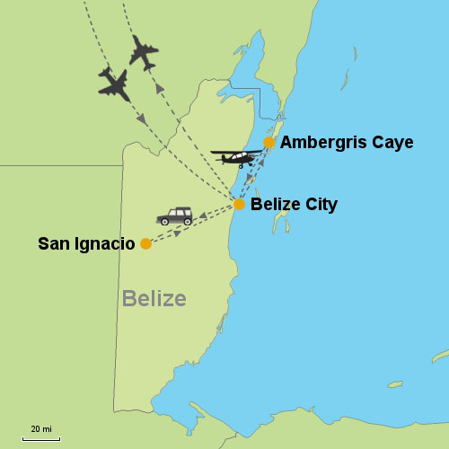 San Ignacio Ambergris Caye Customizable Itinerary