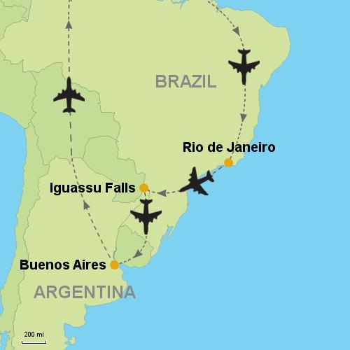 Rio de janeiro iguassu falls buenos aires customizable itinerary rio de janeiro iguassu falls buenos aires gumiabroncs Gallery