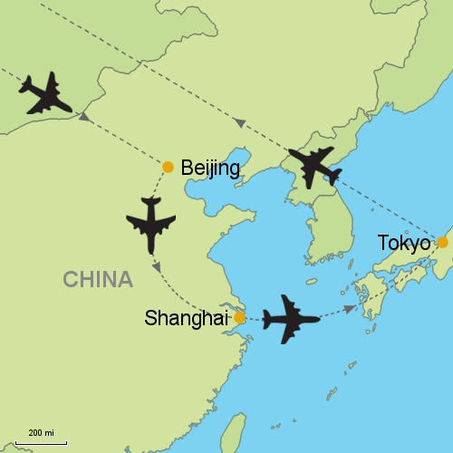 MAP Beijing   Shanghai   Tokyo