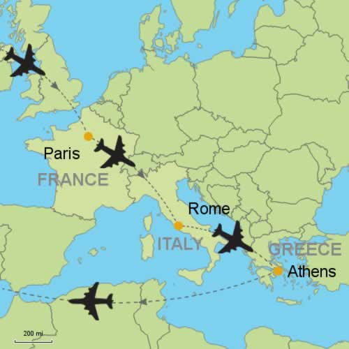 Paris Rome Athens By Air Customizable Itinerary From Tripmasters Com