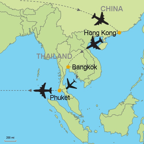Map Hong Kong Bangkok Et