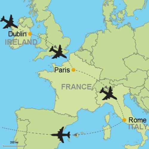 Dublin Paris And Rome By Air Customizable Itinerary From