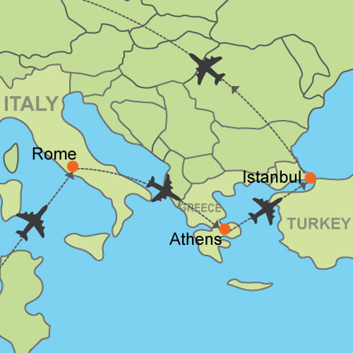 Fco Ath Ist Byair Map