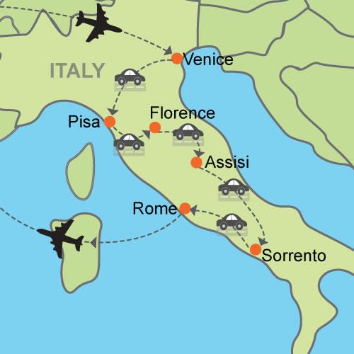 From Venice To Rome Via Tuscany Amalfi Coast Customizable Itinerary