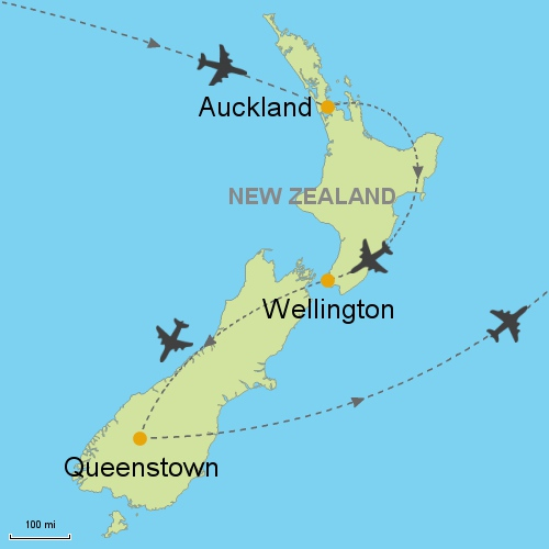 Auckland Wellington Queenstown Customizable Itinerary from Asia