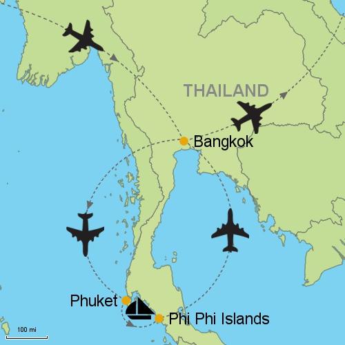 Bangkok Phuket Phi Phi Islands Customizable Itinerary from Asia