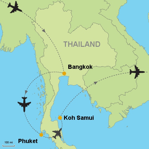 Bangkok Phuket Koh Samui Customizable Itinerary from Asia