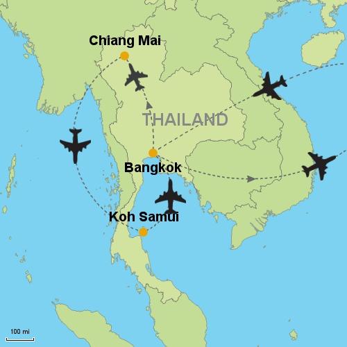 Bangkok Chiang Mai Koh Samui Bangkok Customizable Itinerary