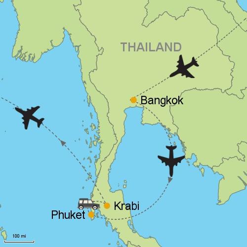 Bangkok Phuket Krabi Customizable Itinerary from Asia