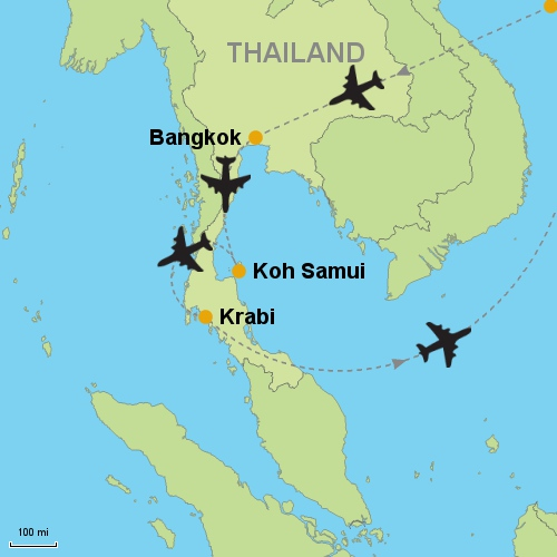 Bangkok Koh Samui Krabi Customizable Itinerary From Asia