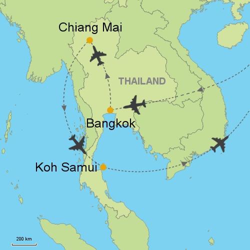 Bangkok Chiang Mai Koh Samui Customizable Itinerary from Asia