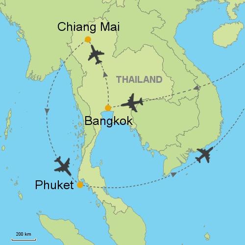 Bangkok Chiang Mai Phuket Customizable Itinerary From Asia - Thailand vacation packages