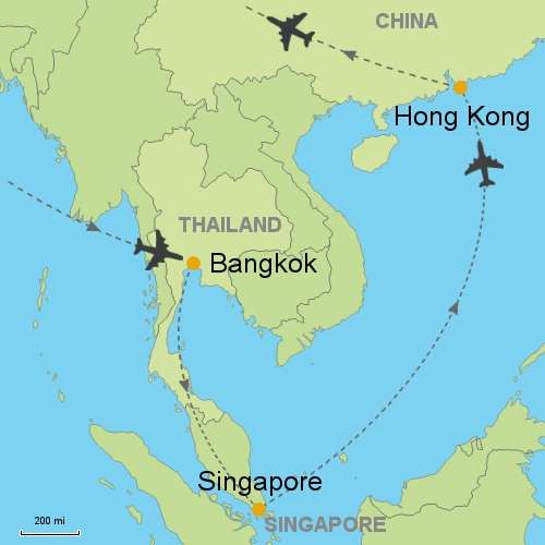 world map of singapore and thailand choice image