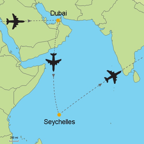 map dubai seychelles