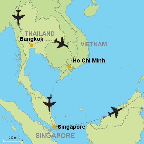 Bangkok - Ho Chi Minh - Singapore Customizable Itinerary from Asia ...