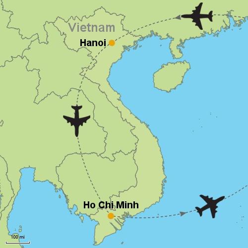 Ho Chi Minh Vietnam Map.Hanoi Ho Chi Minh City Customizable Itinerary From Asia