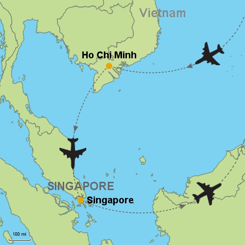 Ho Chi Minh - Singapore Customizable Itinerary from Asia.Tripmasters.com