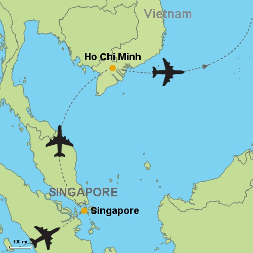 Singapore - Ho Chi Minh Customizable Itinerary from Asia.Tripmasters.com