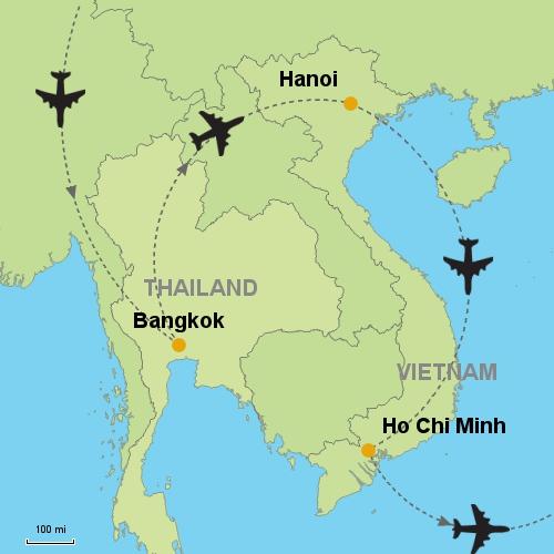 Bangkok - Hanoi - Ho Chi Minh Customizable Itinerary from Asia ...