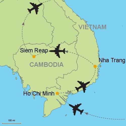 Nha Trang Vietnam Map.Ho Chi Minh Nha Trang Siem Reap Customizable Itinerary From Asia