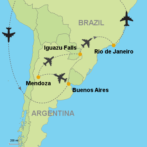 Buenos Aires - Mendoza - Iguazu Falls - Rio de Janeiro- Customizable ...