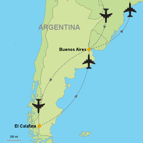 Buenos Aires El Calafate Customizable Itinerary - Argentina map buenos aires