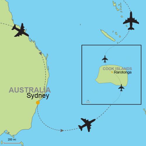 Map Of Australia Islands.Sydney Rarotonga Cook Islands