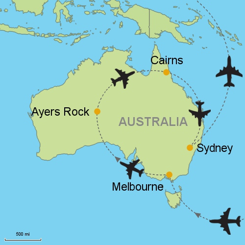 Melbourne Ayers Rock Cairns Sydney Customizable Itinerary From