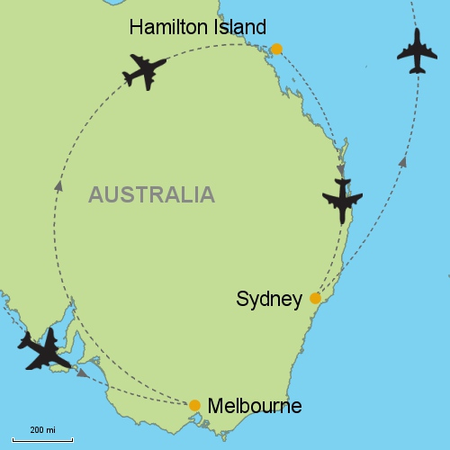 Hamilton Island Australia Map.Melbourne Hamilton Island Sydney Customizable Itinerary From