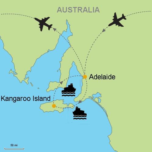 Map Of Australia Kangaroo Island.Sydney Adelaide Kangaroo Island Melbourne Customizable