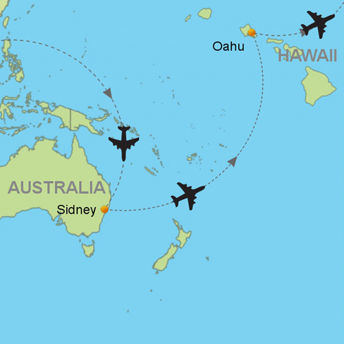 Sydney oahu hawaii customizable itinerary from asiaipmasters map sydney oahu hawaii gumiabroncs Gallery