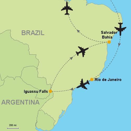 Rio de Janeiro - Iguassu Falls - Salvador da Bahia- Customizable ...