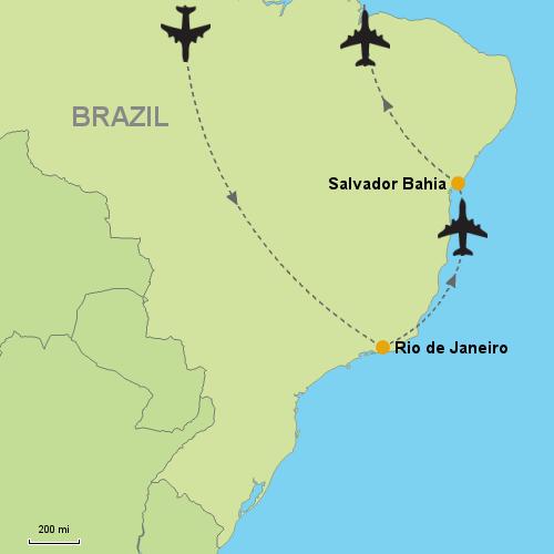 Rio de Janeiro Salvador da Bahia Customizable Itinerary